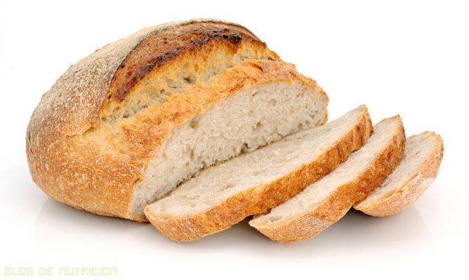 El pan blanco hace engordar?